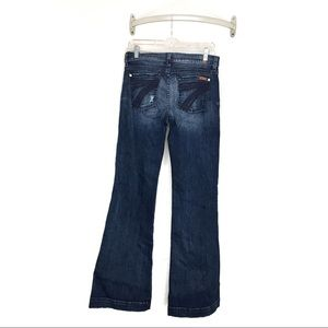 7 For All Mankind Dojo Flare Dark Wash Distressed